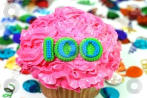 cutcaster-photo-100696193-Celebration-Cupcake-Number-100