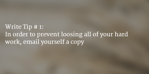 Writing Tip #1