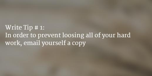 Writing Tip #1
