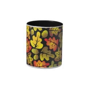 Autumn Oak Leaves Mug
