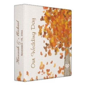 Tree Fall Wedding Binder