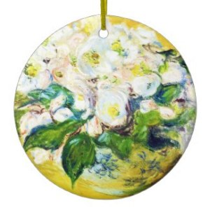 Monet Roses - Holiday Ornament