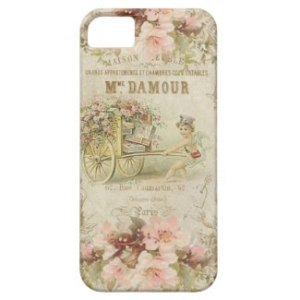 Delicate Vintage French Art Print Cell Phone Case
