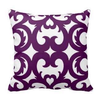 Heart Fretwork Scroll Pattern Pillow