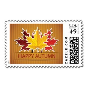 Happy Autumn  Postage