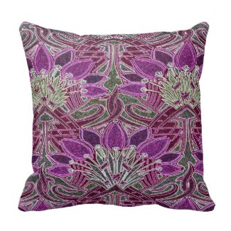 Purple Pattern Pillow