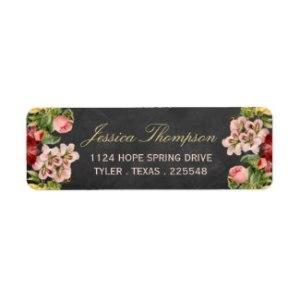 Vintage Floral Address Label