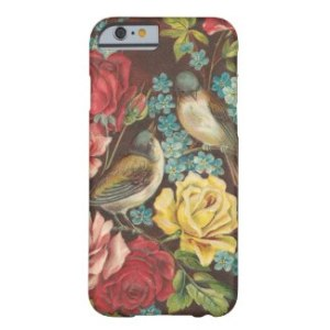Vintage Birds And Flowers Cell Phone
