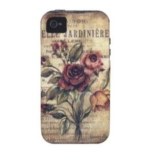 Vintage Rose Cell Phone Case
