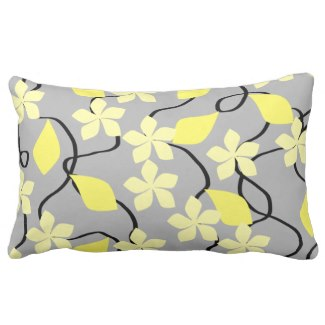 Yellow and Gray Floral Pattern