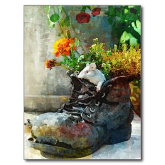 Boot With Flowers - By Claudia H. Blanton