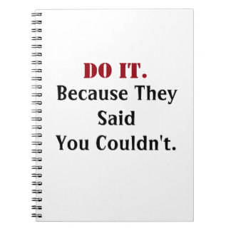 Do It. Motivational Notebooks