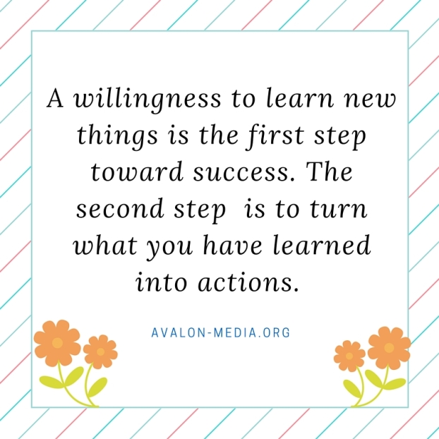 Take 2 Steps Toward Success-Learning And Taking Action. (1)